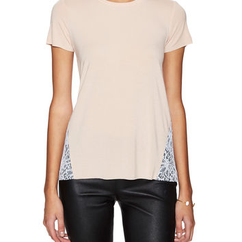 BAILEY 44 Women's Hopper Crewneck Top with Lace - Pink -