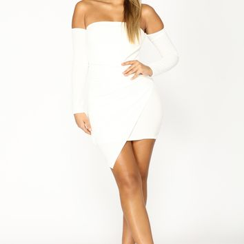 Feelin' My Vibe Midi Dress - White
