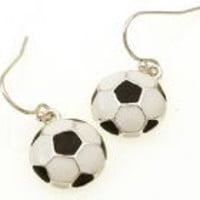 Soccer Ball Earring