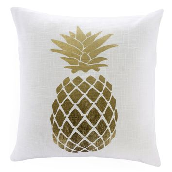 Golden Pineapple Accent Pillow