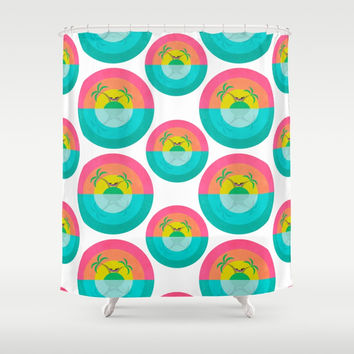 Summer Island Unicorn Shower Curtain by That's So Unicorny