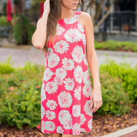 Mums Day Out Dress, Coral-Mint