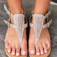 All Figured Out Sandals, Taupe