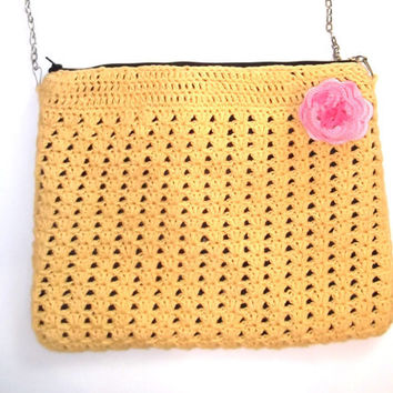 Crochet purse, Crochet bag, crochet crossbody bag, crochet shoulder bag, gift for her