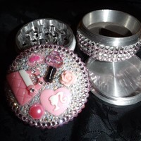 Barbie Girl 4 Piece Herb Grinder Pollen Screen and Catcher Crystals from Cognitive Fashioned