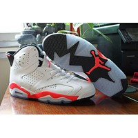Air Jordan retro 6 white black Infrared lows 3M women men basketball shoes 2015 US size 5.5-13
