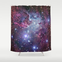 Nebula Galaxy Shower Curtain by RexLambo