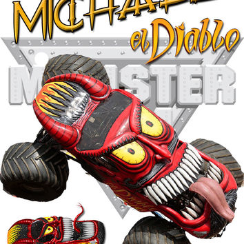 Personalized Custom NAME T-shirt Monster Truck El Diablo Monster Jam