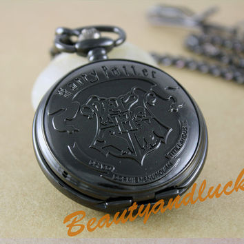 Harry potter classic pocket watchthe hogwarts by BeautyandLuck