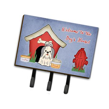 Dog House Collection Shih Tzu Silver White Leash or Key Holder