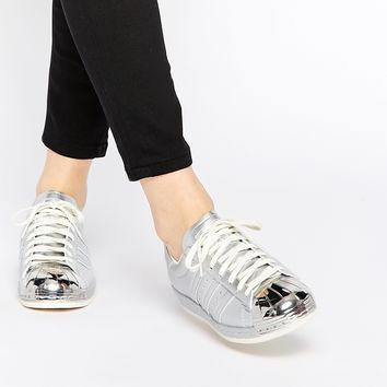 adidas Originals Superstar 80's Silver Metallic Trainers