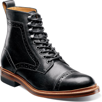 Madison II Cap Toe Boot by Stacy Adams