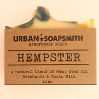 Hempster - Hemp Goats Milk Soap - Homemade soap, Cold Process Soap, Goatsmilk Soap, Natural Soap, Hemp Soap, Men's Soap, Unisex Soap