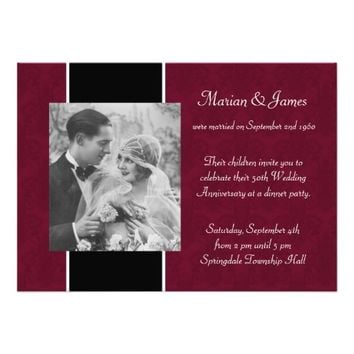 Photo 50th Wedding Anniversary Party Invitations