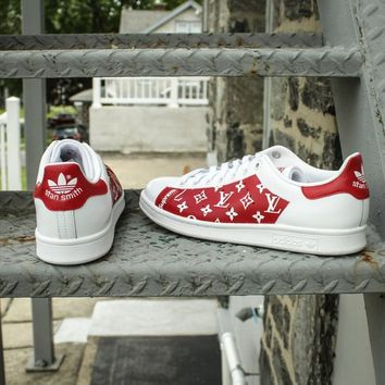 NEW Adidas Stan Smith Louis Vuitton Sneakers