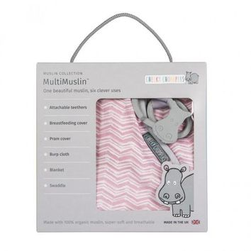Swaddle Blanket - Cheeky Chompers MultiMuslin - 6 Clever uses!