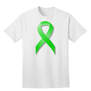 Lyme Disease Awareness Ribbon - Lime Green Adult T-Shirt