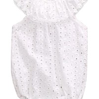 White Lace Summer Baby Romper
