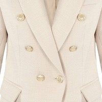 BUTTON BLAZER BEIGE