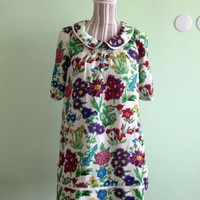 See By Chloe Designer Silk Shift Dress With Floral Print Size S US 2, EU 34