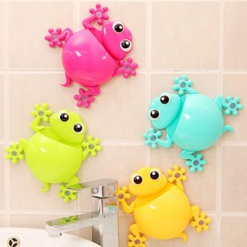 2016 Creative Cartoon Sucker Gecko Toothbrush Wall Suction Hook Tooth Brush Holder Home Decor For Kids Bathroom Accessories