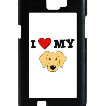 I Heart My - Cute Golden Retriever Dog Galaxy Note 2 Case  by TooLoud