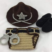 State Trooper Baby Outfit - Baby Sheriff's Outfit - Police Officer Baby - Deputy Sheriff - Baby Police Outfit - Park Ranger - Baby Police