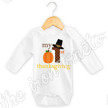 My 1st Thanksgiving Transfer / Onesuit / Shirt / Bib ~ First Thanksgiving