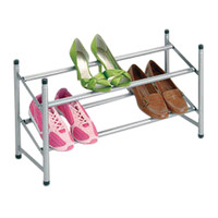 2 Tier Silver Shoe Rack