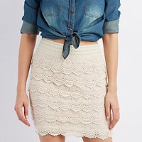 TIERED CROCHET SKIRT