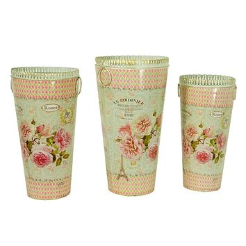 French country vintage planter vases Dolce Mela DMMV853-S3