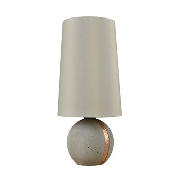 Jutland Table Lamp Polished Concrete,Copper