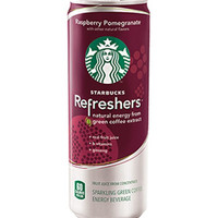 Starbucks Refreshers Raspberry Pomegranate Drink 12 oz Cans-Case of 12