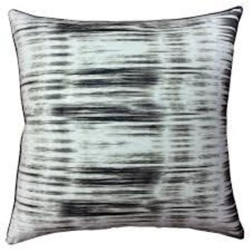 Ikat Stripe Charcoal Pillow