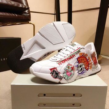 DCCK PhiliPP Plein  Fashion Men Casual Running Sport Shoes Sneakers Slipper Sandals High Heels Shoes