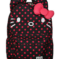 Loungefly Hello Kitty Pink & Black Polka Dot Backpack | Hot Topic