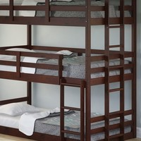 Paisley Cappuccino Triple Bunk Bed