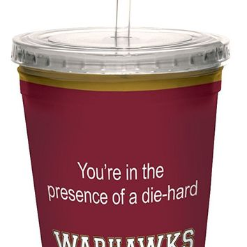 Tree-Free Greetings cc34476 Warhawks College Football Fan Artful Traveler Double-Walled Cool Cup with Reusable Straw, 16-Ounce