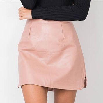 Leather Skirts High Waist skirt