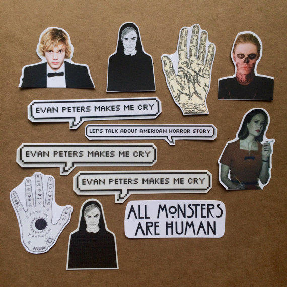 american horror story stickers from nancynhoang on etsy
