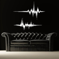 Wall Decal Vinyl Sticker Decals Art Decor Design  Music Equalizer Electro House Rock  Mans Kids Gift Bedroom Dorm (r1316)