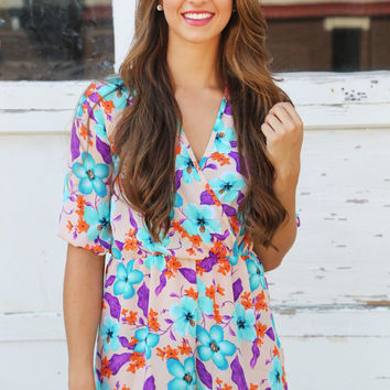 In The Cabana Romper{Floral}