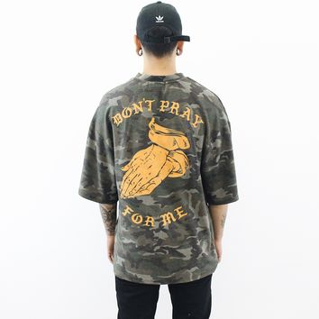 Don't Pray For Me T-Shirt (Camo)