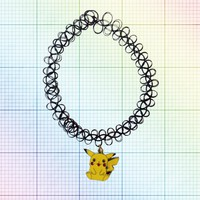 Pikachu Tattoo Choker from ☯ harajuku alien ☯