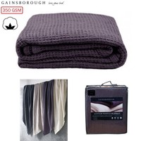 Waffle Blanket Single/ King Single/ Double Purple 200 x 258 cm 350GSM Cotton by Gainsborough
