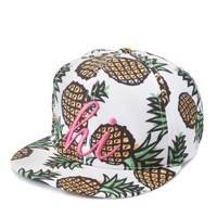 Multi Hi Pineapple Print Baseball Cap by Charlotte Russe