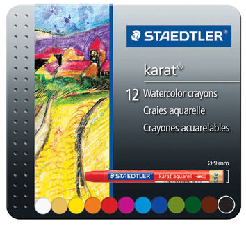 Staedtler® Karat® Watercolor Crayons Metal Tin Set