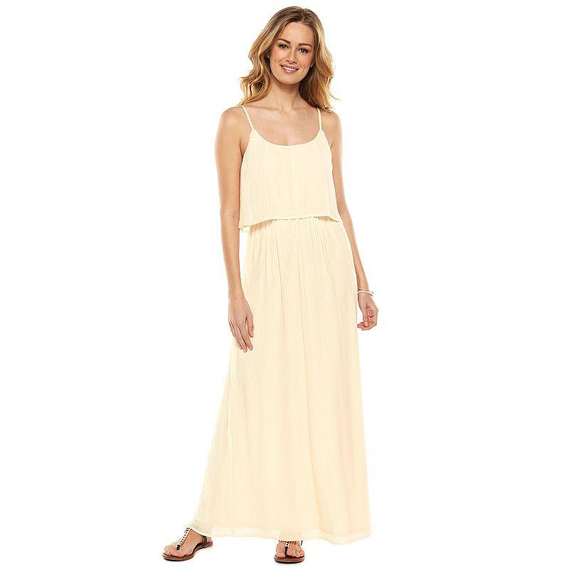 Lc Lauren Conrad Pleated Popover Maxi From Kohls