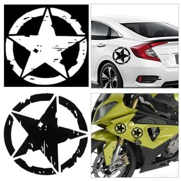 1PC Car Stickers 15cm*15cm ARMY Star Graphic Decals Motorcycle Car Body/Window Stickers Vinyl Car-styling Hot