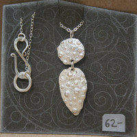 Bridal or Casual Oceanic Texture Casting Metalsmithing Handmade Sterling Silver Necklace